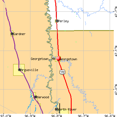 Georgetown, MN map