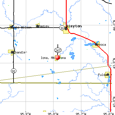 Iona, MN map