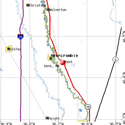 Kent, MN map