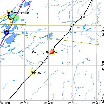 Kerrick, MN map