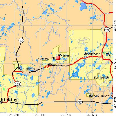 Kinney, MN map