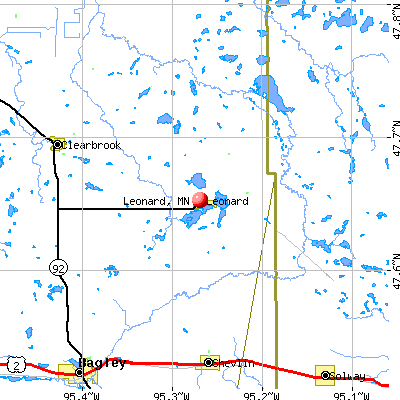Leonard, MN map