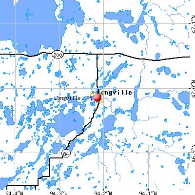 Longville, MN map