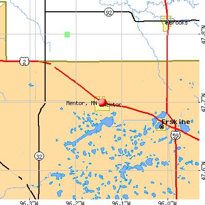 Mentor, MN map