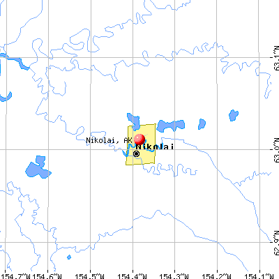 Nikolai, AK map