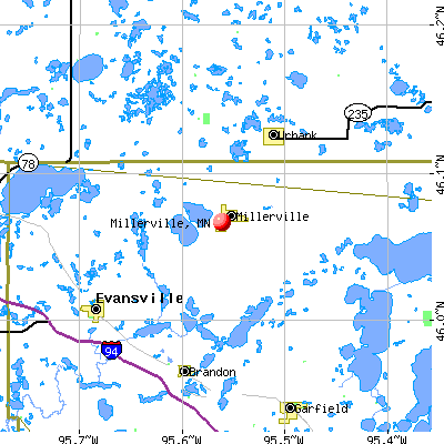 Millerville, MN map