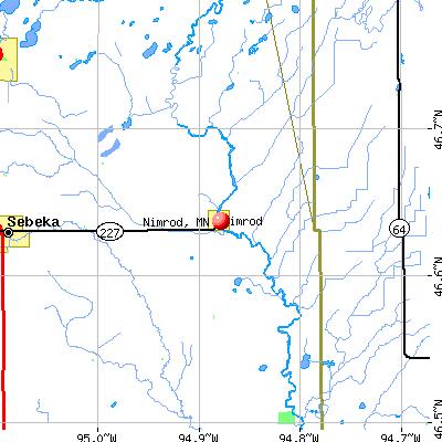 Nimrod, MN map