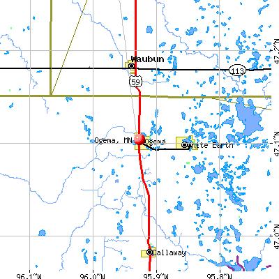 Ogema, MN map