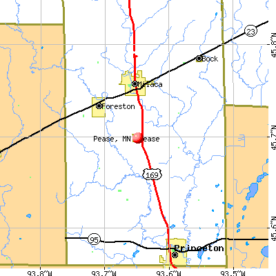 Pease, MN map