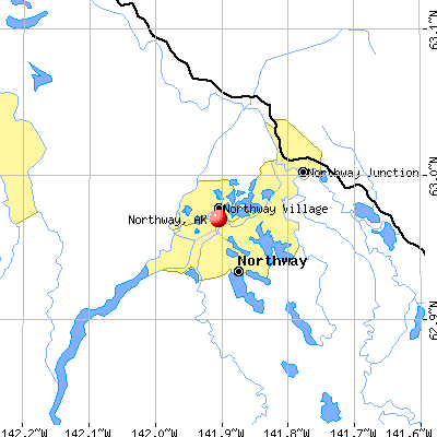 Northway, AK map