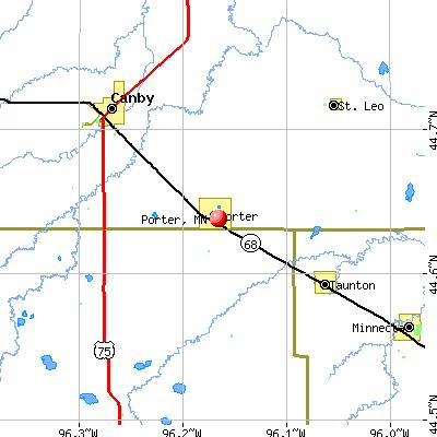 Porter, MN map