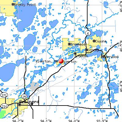 Riverton, MN map