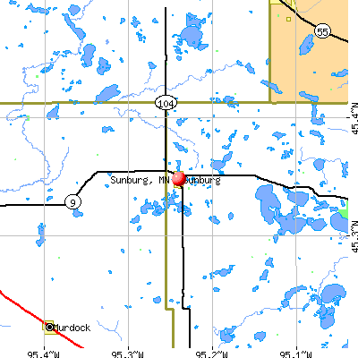 Sunburg, MN map