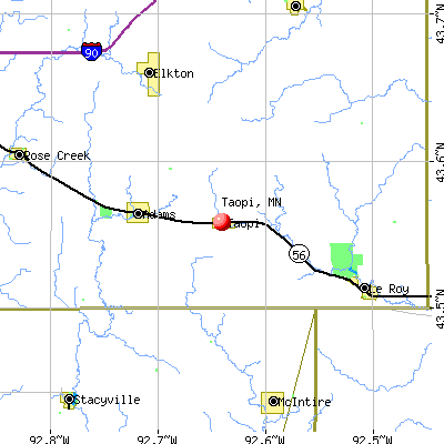 Taopi, MN map