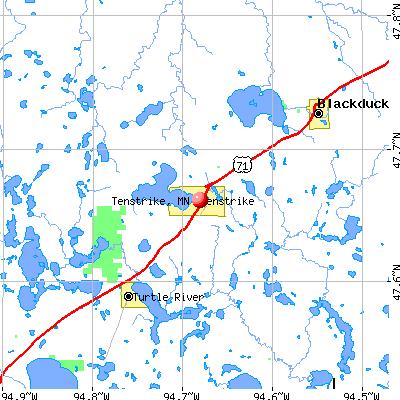 Tenstrike, MN map