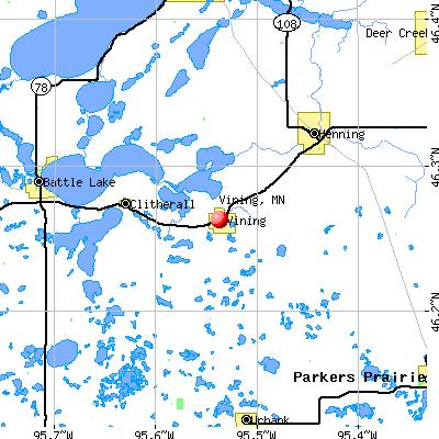 Vining, MN map