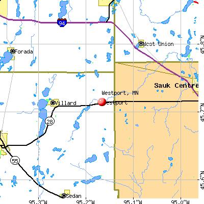 Westport, MN map
