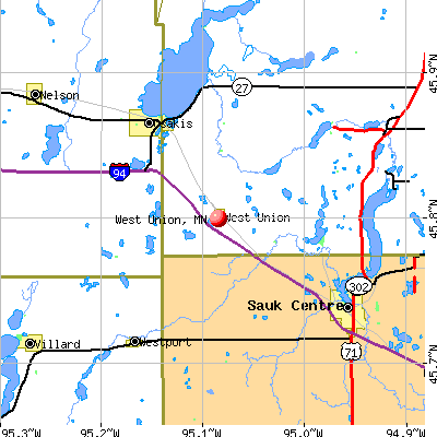 West Union, MN map