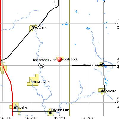 Woodstock, MN map