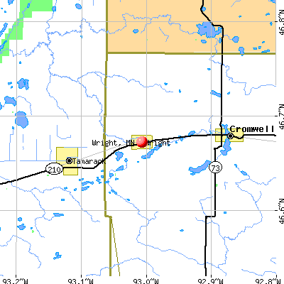 Wright, MN map