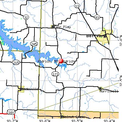 Aldrich, MO map