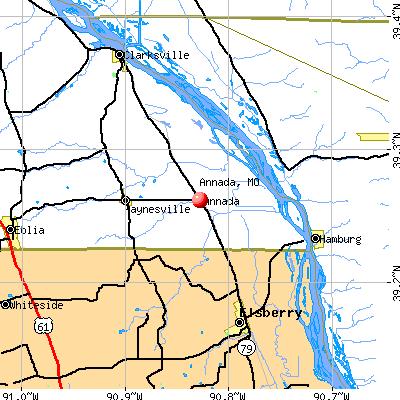 Annada, MO map