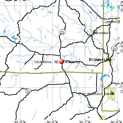 Caledonia, MO map