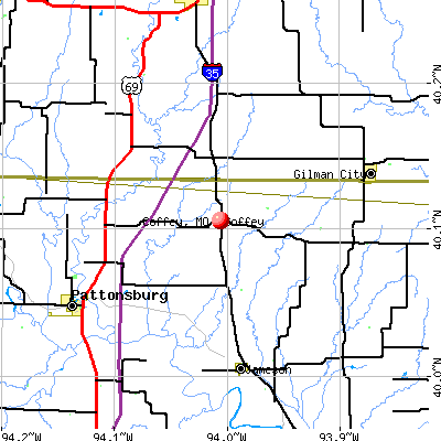 Coffey, MO map