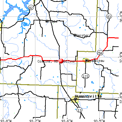 Collins, MO map