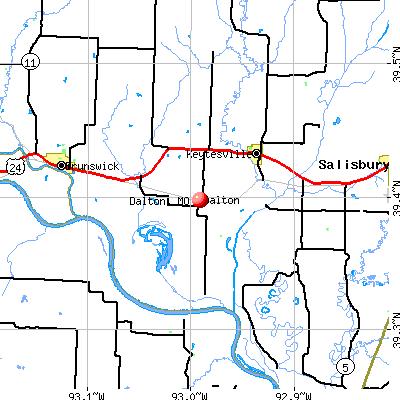 Dalton, MO map