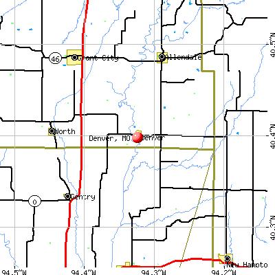 Denver, MO map