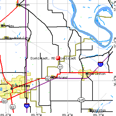 Diehlstadt, MO map