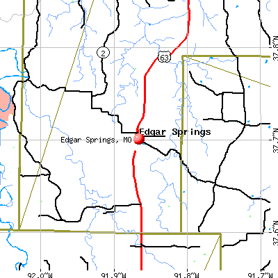 Edgar Springs, MO map