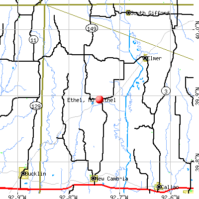 Ethel, MO map