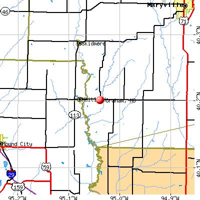Graham, MO map