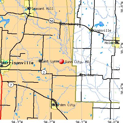 Gunn City, MO map
