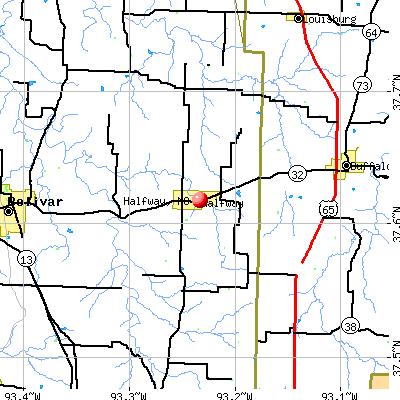 Halfway, MO map