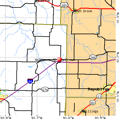 Halltown, MO map