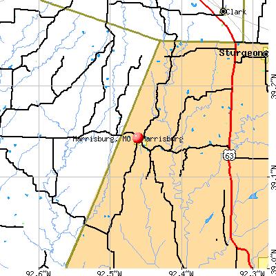 Harrisburg, MO map