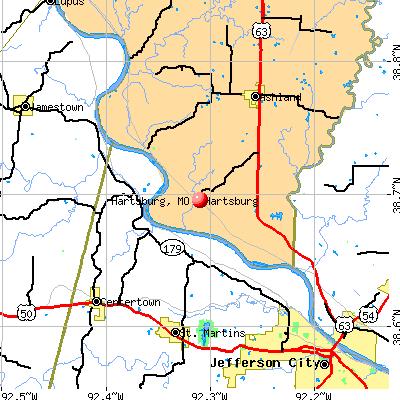 Hartsburg, MO map