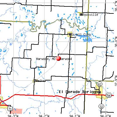 Harwood, MO map
