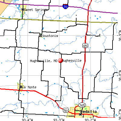 Hughesville, MO map