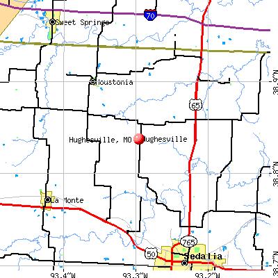 Hughesville, MO map