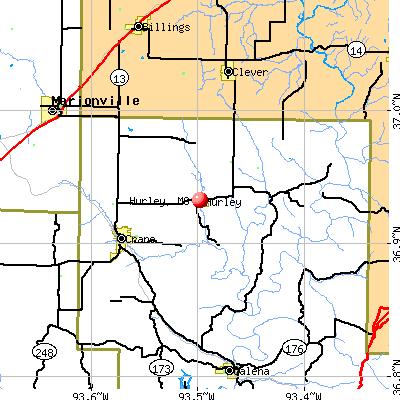 Hurley, MO map