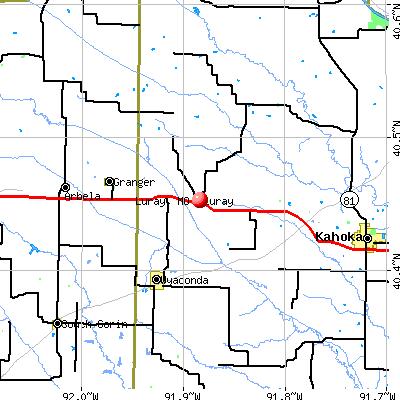 Luray, MO map