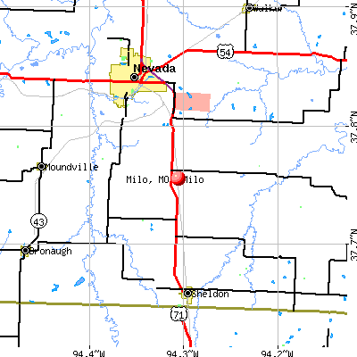 Milo, MO map