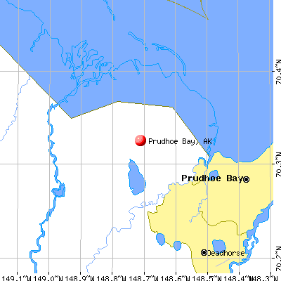 Prudhoe Bay, AK map