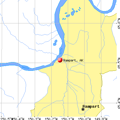 Rampart, AK map
