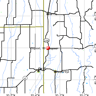 Osgood, MO map