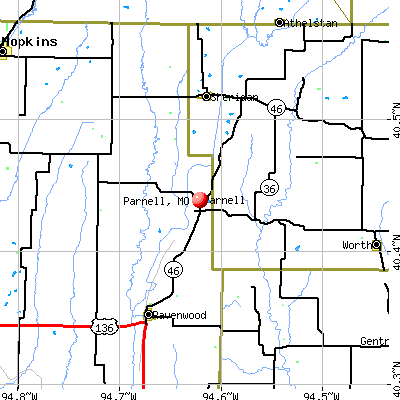 Parnell, MO map